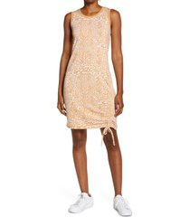 women's laila ali ruched tie tank dress, size x-small - brown