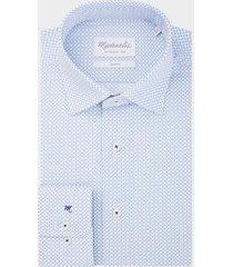 michaelis licht poplin shirt met patroon