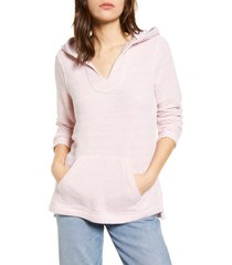 faherty seabrook french terry hoodie, size x-small in light pink at nordstrom