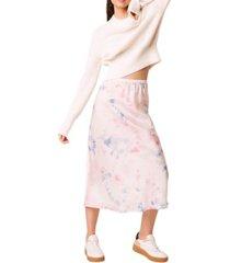 french connection sadie tie dye slip skirt