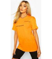 lost reputation slogan print t-shirt, orange