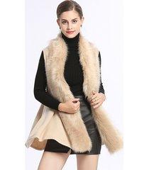 cardigan in maglia elegante con collo di pelliccia