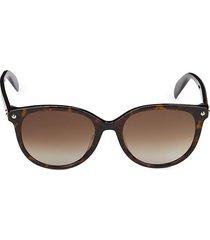 alexander mcqueen women's 54mm round sunglasses - havana