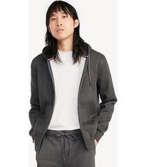tommy hilfiger men's essential zip hoodie grey heather - xxl