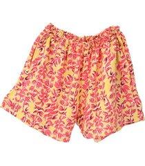 bermuda pijama mujer  cada llama con su pillama  amarillo ramas rosada