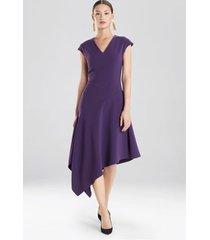 crepe asymmetrical dress, women's, size 14, josie natori