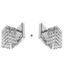 2 x arandela de cristal legitimo clearwall perfeita