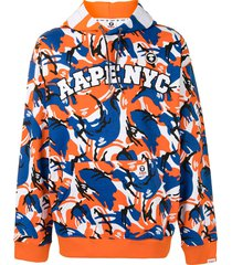 aape by *a bathing ape® camouflage-pattern drop-shoulder hoodie -
