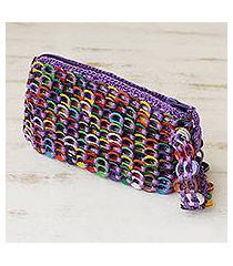 soda pop-top wristlet, 'fashionable rainbow' (brazil)
