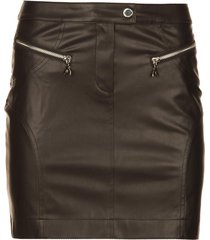 faux leather rok caro  zwart