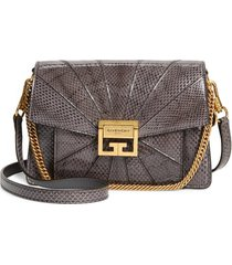 givenchy small gv3 patchwork snakeskin crossbody bag -