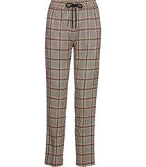 larus pantalon met rechte pijpen bruin munthe