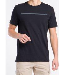 camiseta masculina básica logo linha preta calvin klein jeans - pp