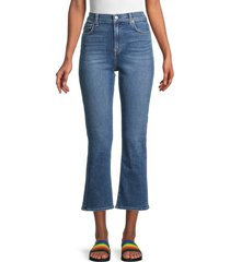 7 for all mankind women's high-rise cropped slim jeans - blue - size 25 (2)