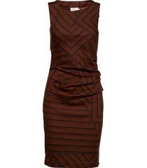kaline india dress knälång klänning brun kaffe