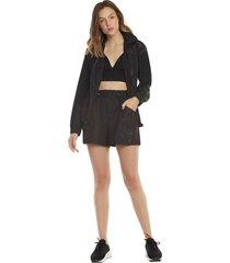 jaqueta zinco esportiva com recorte preto
