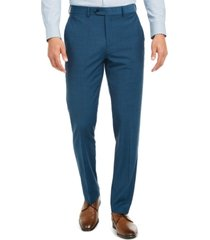 bar iii men's slim-fit active stretch performance teal suit separate pants, created for macy's