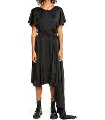 women's vetements 50/50 asymmetrical dress