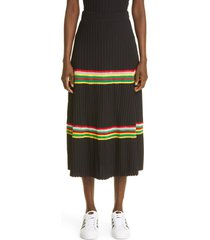 women's wales bonner saint ann rib skirt, size x-small - black
