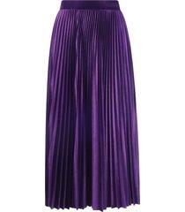 valentino velvet plisse skirt