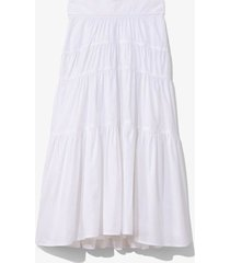 poplin tiered skirt