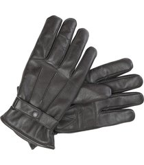 barbour burnished leather gloves, size small in dark brown at nordstrom