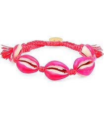 neon pink shell pull-tie bracelet