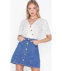 glamorous short sleeve knot blouse vardagsblusar