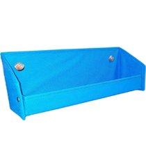 revisteiro prateleira organibox azul