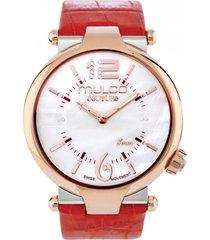 reloj couture slim rojo mulco
