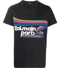 balmain flock & rubber t-shirt