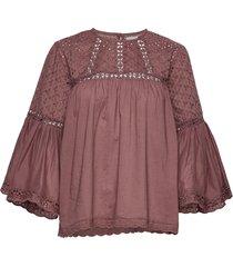 brandy blouse blouse lange mouwen paars lollys laundry