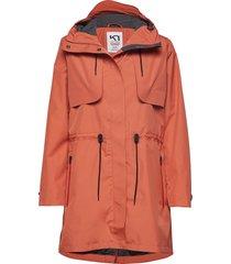 gjerald l jacket parka lange jas jas oranje kari traa