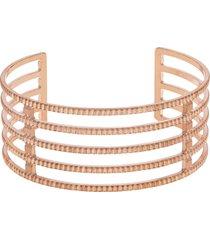 bracciale bangle big in bronzo rosato per donna