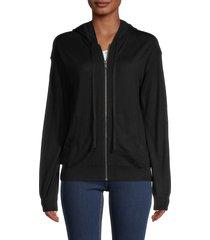 zadig & voltaire women's merino wool hoodie - black - size xs