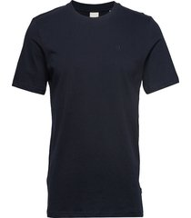 cotton tee with wider neck rib t-shirts short-sleeved blå scotch & soda