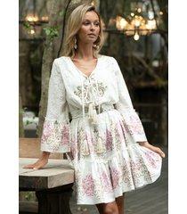 miss june dreamer dress white/pink