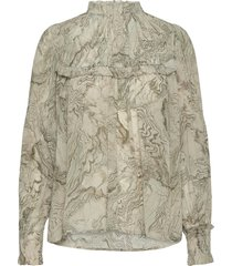 2nd edition gayle oyster blouse lange mouwen groen 2ndday