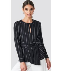 mango rain blouse - black