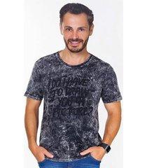 camiseta hiatto estonada manga curta masculina