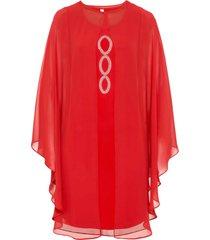 abito midi con applicazioni (rosso) - bodyflirt boutique
