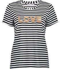 geisha t-shirt short sleeves white & black striped