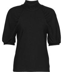 rifagz ss turtleneck blouses short-sleeved zwart gestuz