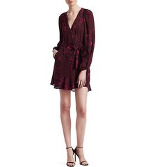 embry wrap mini dress
