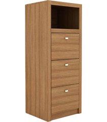 armário me4118 amêndoa tecno mobili marrom