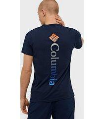 columbia m rapid ridge back graphic t-shirts & linnen navy
