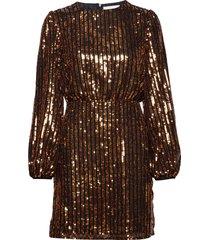 clara dress kort klänning guld storm & marie