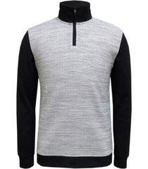 alfani men's textured colorblocked quarter-zip sweater, created for macy's
