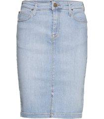 pencil skirt kort kjol blå lee jeans