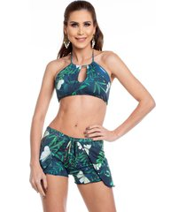 shorts de praia maré brasil verde